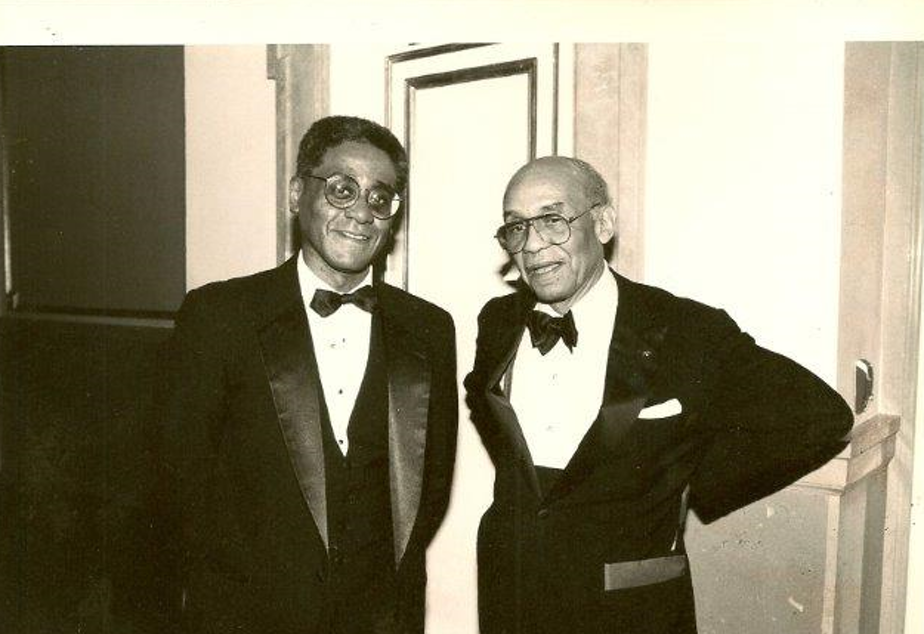 Charles R. Johnson with Ralph Ellison.