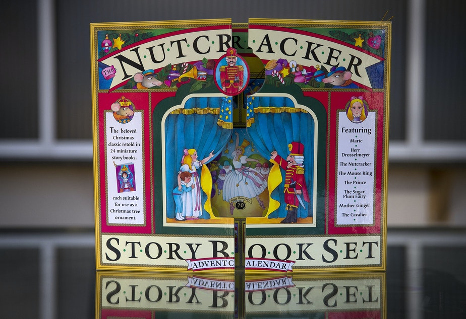 A Nutcracker advent calendar is shown on Thursday, November 21, 2019, in Seattle.