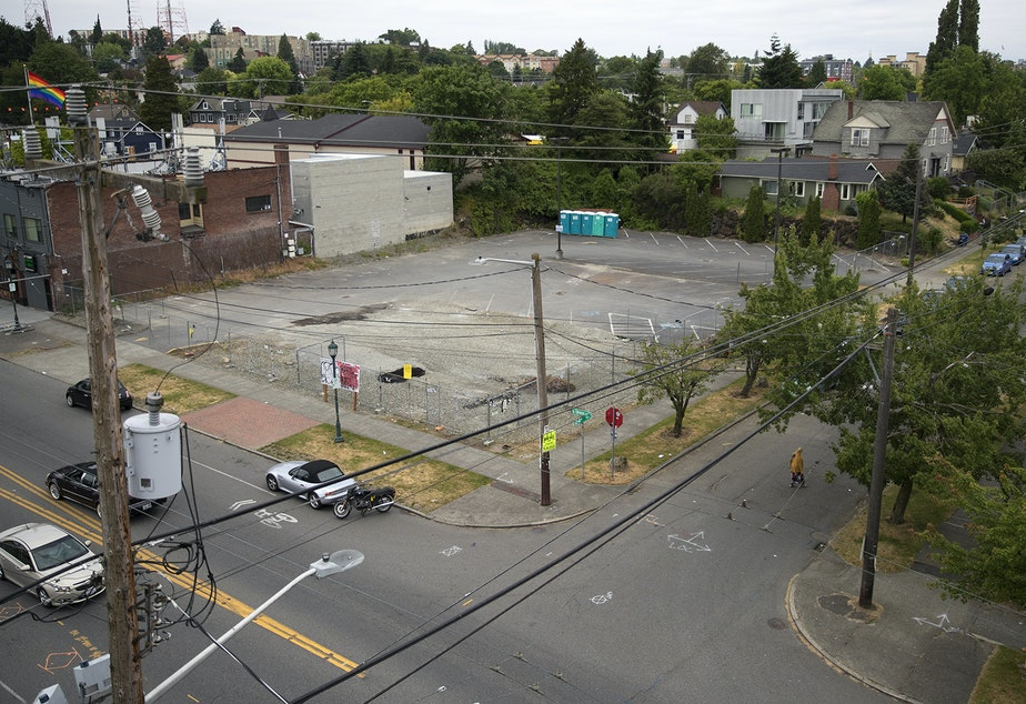 caption: The site of the Liberty Bank development at 23rd and Union in Seattle's Central Area.
