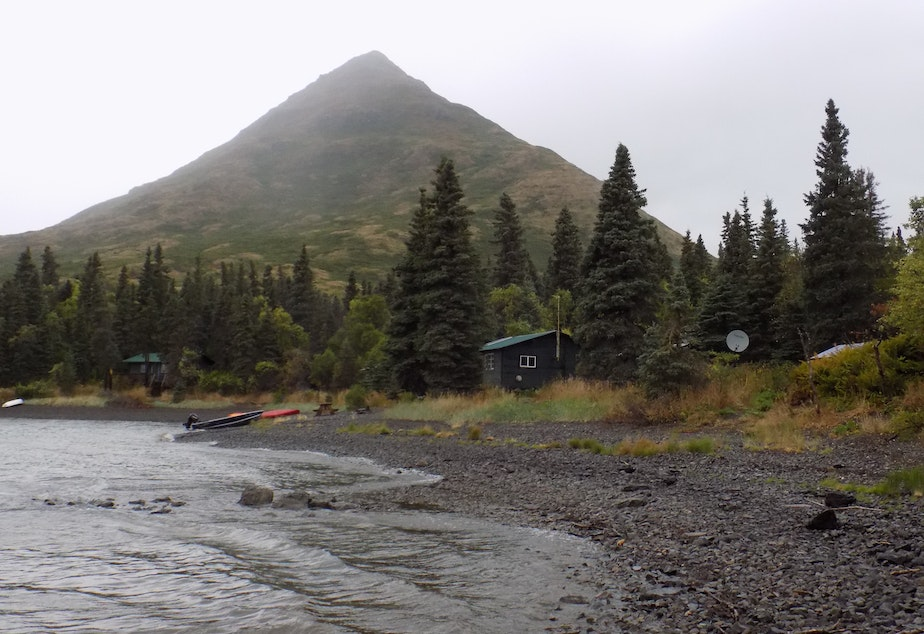 The University of Washington's fisheries research station on Lake Nerka, Alaska