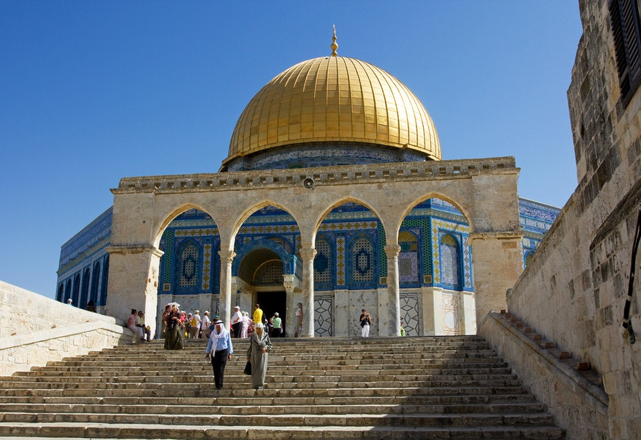 The Dome of the Rock on the Temple Mount in Jerusalem.