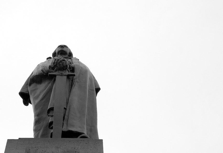 The George Washington statue on the University of Washington Seattle campus.
