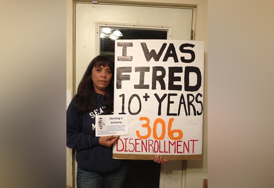 Nooksack tribal member Angel Rabang said she was wrongfully fired from her job last July at the tribal casino for being one of the Nooksack 306..