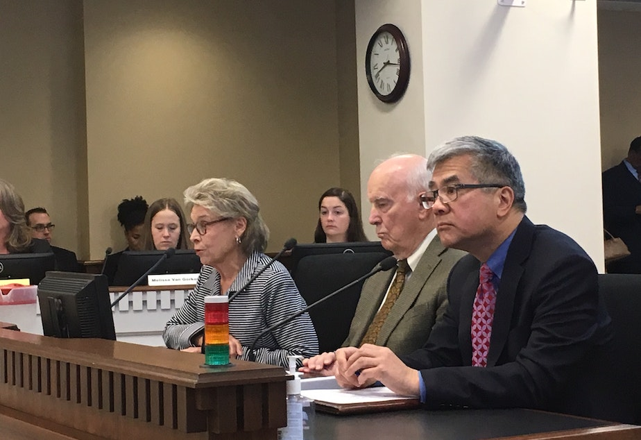 Former Washington Governors Chris Gregoire, Dan Evans and Gary Locke testify in favor of I-1000.