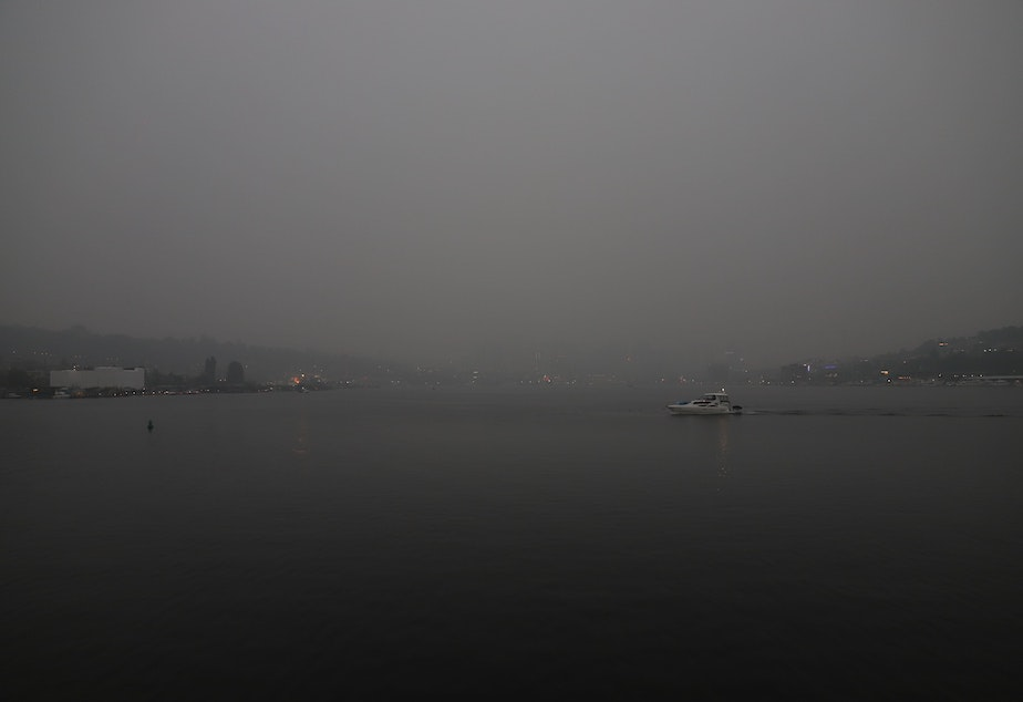 caption: View from Gaslight park to downtown Seattle, September 12, 2020
