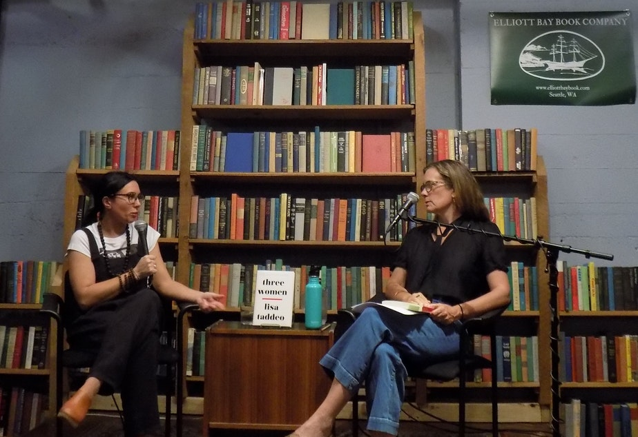 Left to right: Lisa Taddeo and Claire Dederer at The Elliott Bay Book Company