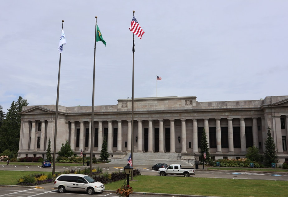 caption: The Temple of Justice in Olympia is home to the Washington State Supreme Court.
