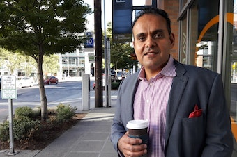 Sunjay Pandey, a former Amazon product manager, now runs Capital One's innovation lab, practically on the doorstep of Amazon's South Lake Union headquarters.