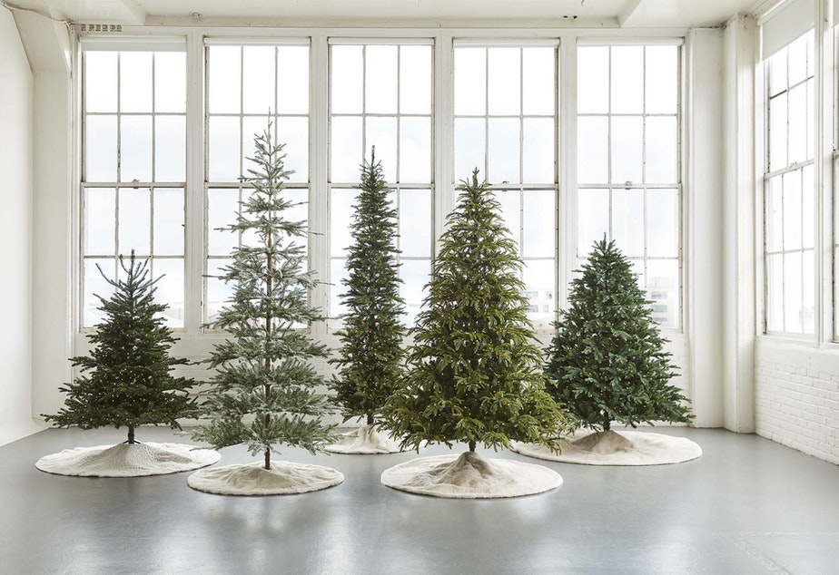 The American Christmas Tree Association, which represents manufacturers and retailers of real and artificial trees, says there are a lot of fun trends with artificial trees these days. And the trees are getting more realistic looking every year. CREDIT: COURTESY OF THE AMERICAN CHRISTMAS TREE ASSOCIATION