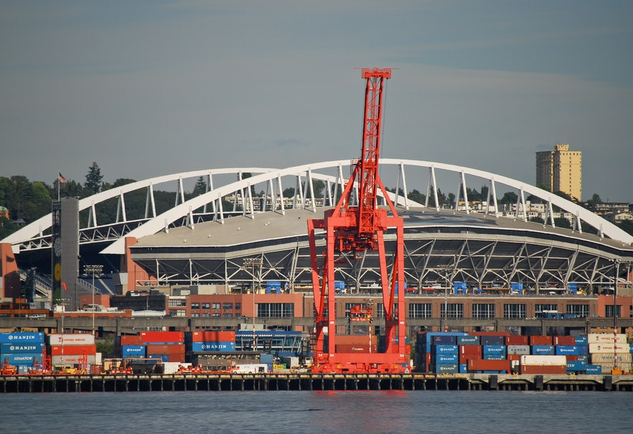 caption: Sodo development is in the midst of tension between sports boosters and the maritime industry.