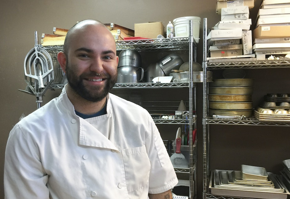 Seattle pastry chef Kevin Moulder creates magic in his tiny Eastlake kitchen. Click on this image to see pictures of his wedding cakes.