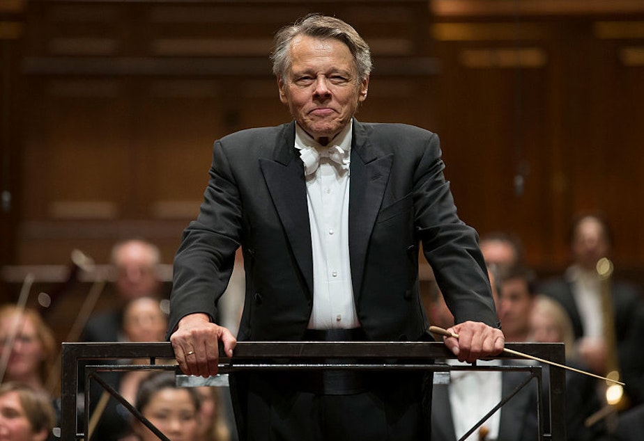 The late conductor Mariss Jansons at his final concert with the Royal Concertgebouw Orchestra in Amsterdam in 2015.
