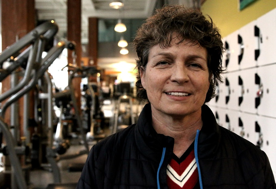 caption: Tija Petrovich, owner of Seattle Fitness, lives and works in Pioneer Square.