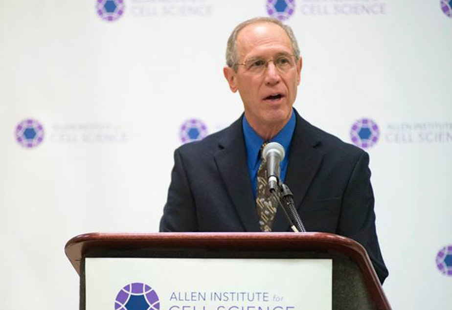 caption: Rick Horwitz, executive director of the Allen Institute for Cell Science, at a press conference on December 8, 2014, in Philadelphia.