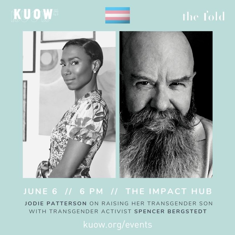 KUOW and The Fold present author Jodie Patterson together with transgender activist Spencer Bergstedt on Thursday, June 6, 2019 at The Impact Hub in Seattle. This event will explore race, gender, and the joys and challenges of raising a transgender child. KUOW's Jeannie Yandle (host of Battle Tactics for your Sexist Workplace podcast) will moderate.