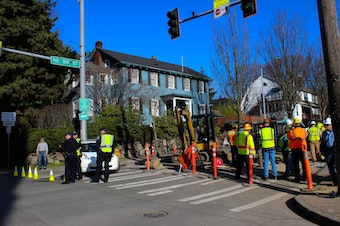 Site of the gas leak.