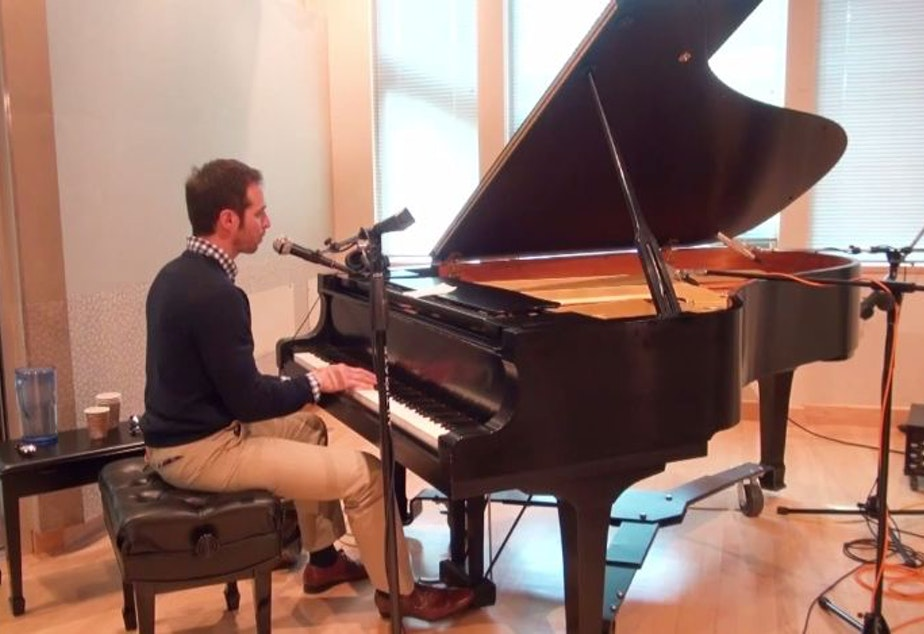 Pianist Arthur Migliazza performs in the KUOW studios on Jan. 30, 2015.