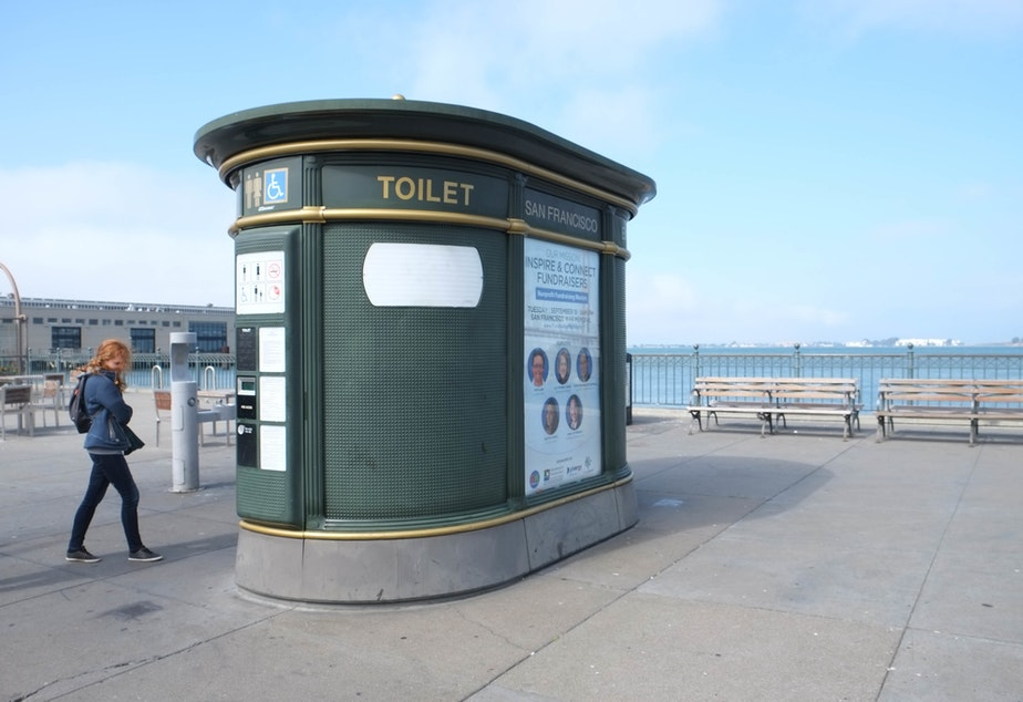 A permanent public toilet in San Francisco.