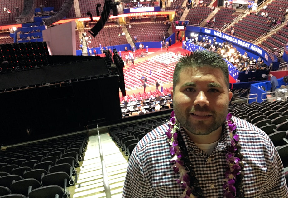 'Donald Trump does not represent what our founders envisioned,' says Washington state delegate Braedon Wilkerson.