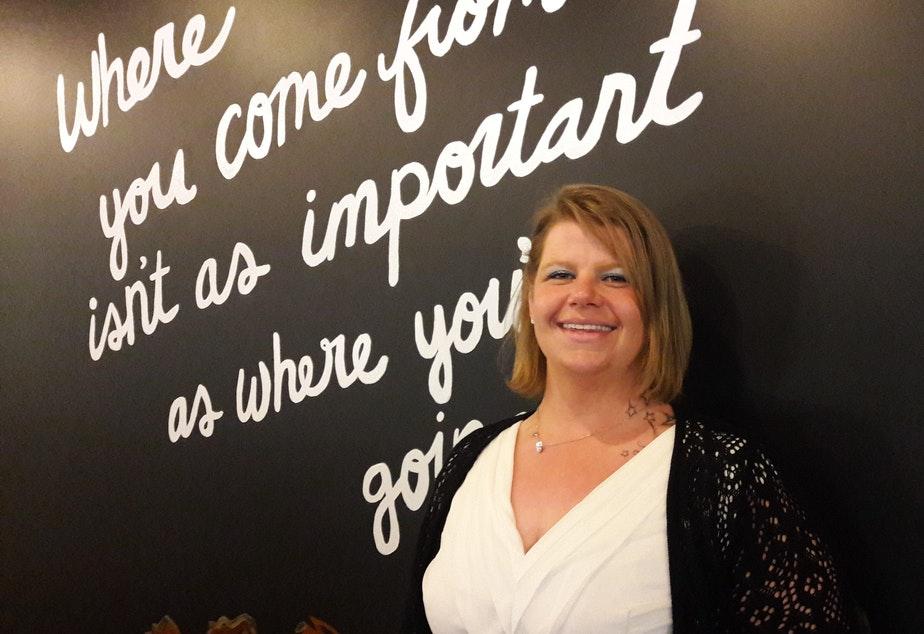 "It's a bittersweet moment for Sarah Nelson who recently graduated from FareStart's program. ""This place has been amazing,"" she said, ""but I'm ready for my next chapter."""