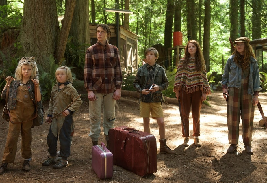 caption: A scene from the movie Captain Fantastic, which was set in Washington state.