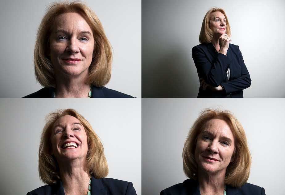 caption: Jenny Durkan is among 21 candidates running for Seattle mayor.