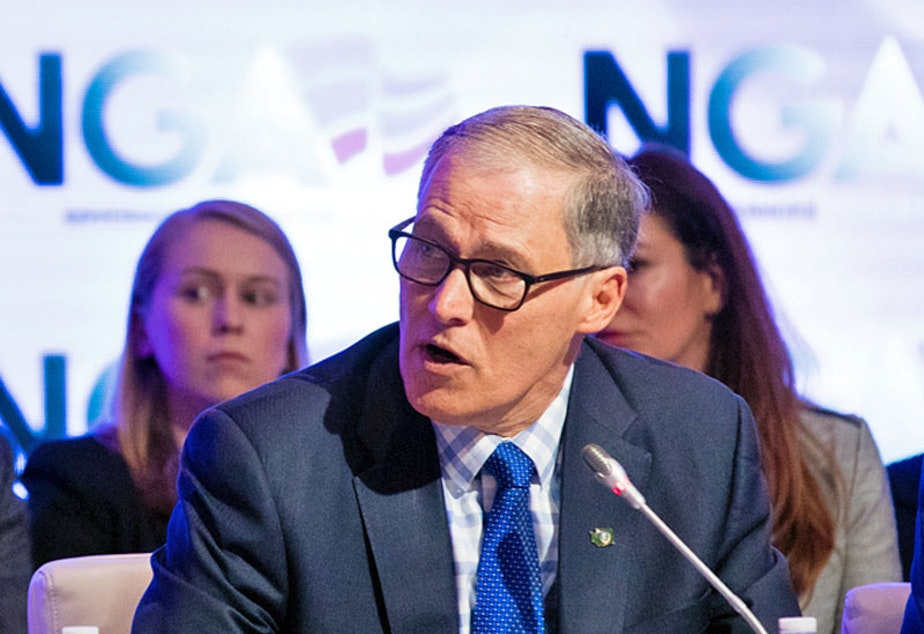 Washington Gov. Jay Inslee has reported raising $112,000 for a federal PAC that will allow him to explore running for president.