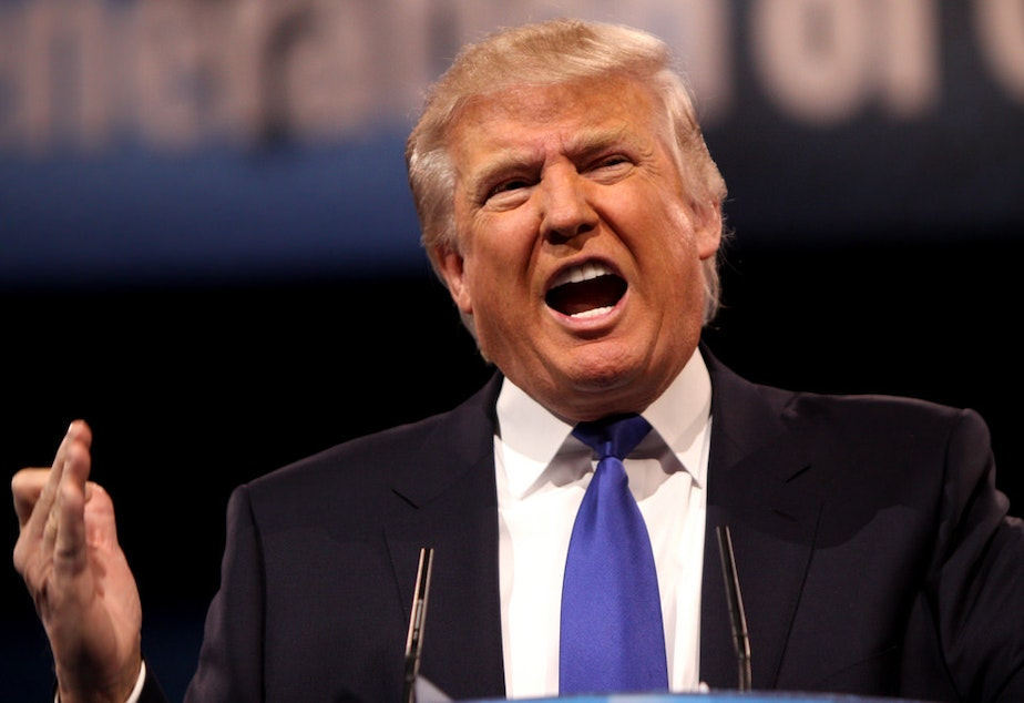 Presidential candidate Donald Trump, pictured here 2013 Conservative Political Action Conference, has inspired a conversation about vulgarity in political speech.
