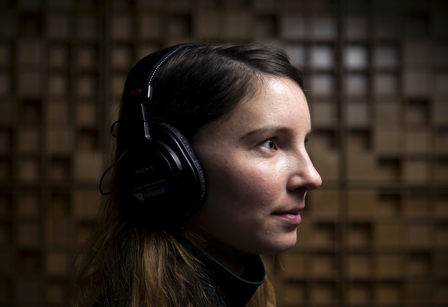 Caroline Gomez is part of KUOW's AudioShop, a podcast lab. She listens to podcasts all. the. time.