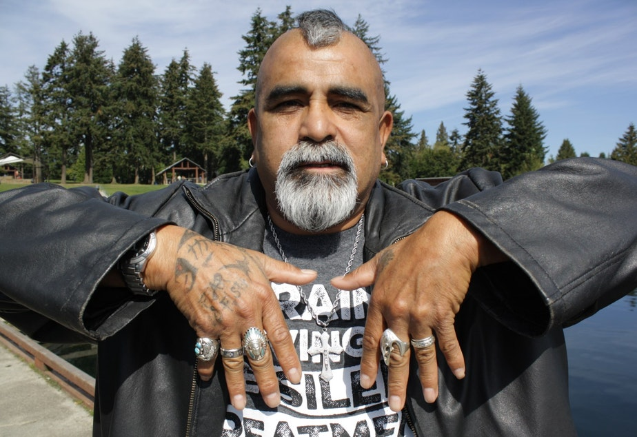 Celestino Rocha, a.k.a. The Fish Killer, has tattoos that say Fear No Fish. He takes fishing in lakes like Angle Lake very seriously and will teach you if you ask.