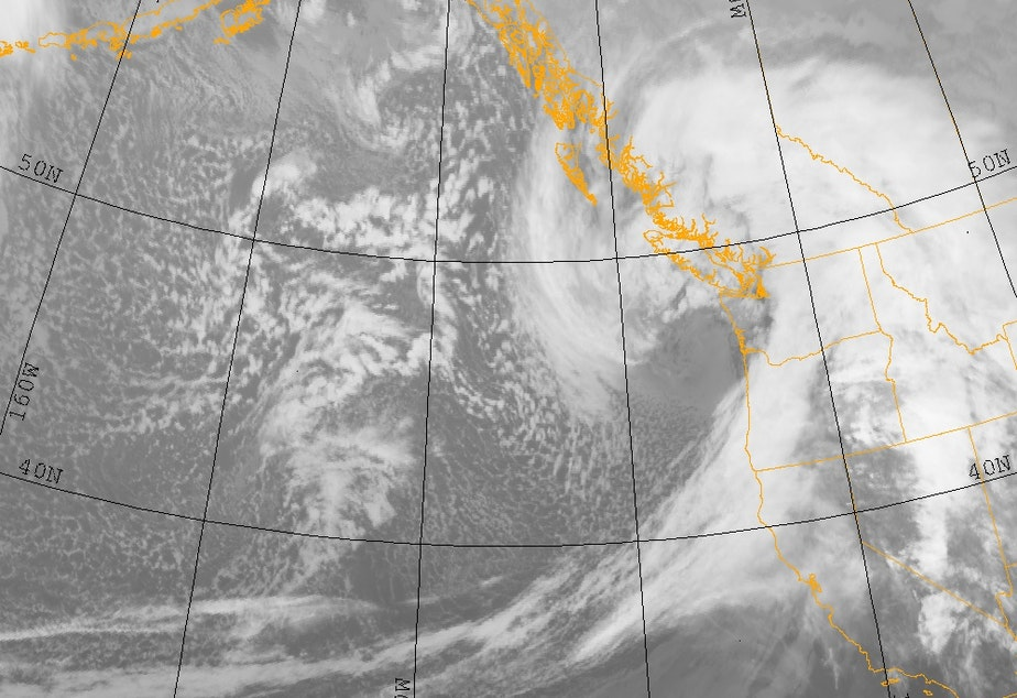 caption: Infrared satellite image of Hanukkah Storm from December 15, 2006.
