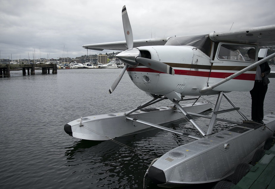 Seattle Seaplanes pilot Yvette Marble prepares to take off from Lake Union on Aug. 23.