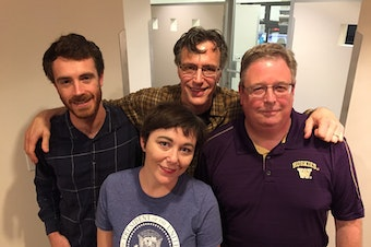 [L-R] David Kroman, Erica Barnett, Bill Radke, Chris Vance