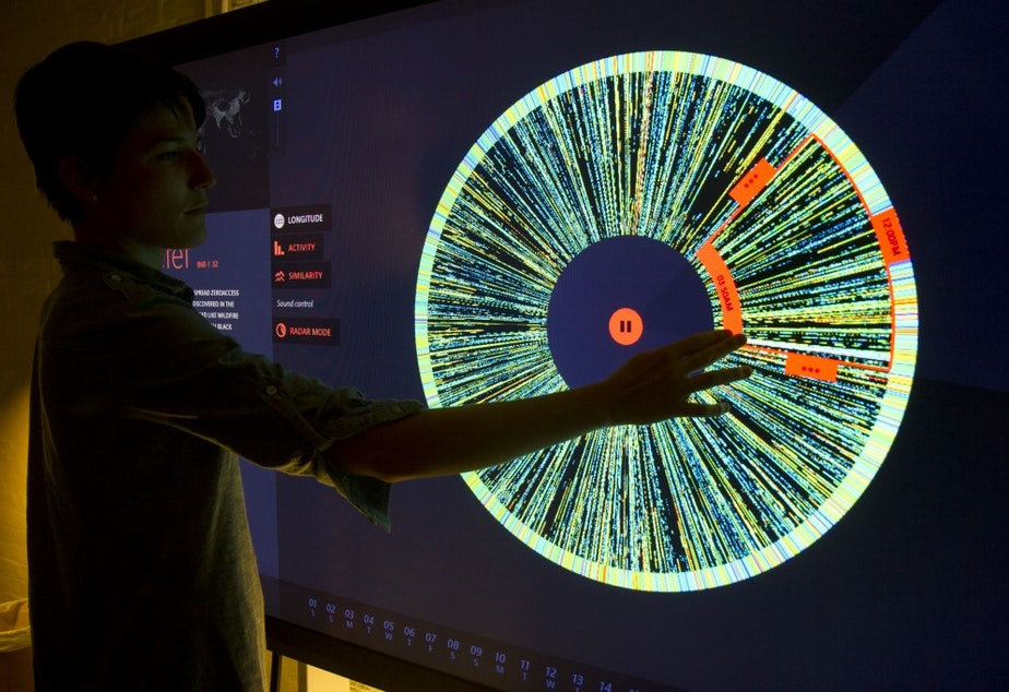 A zombie robot army visualized: A data project from The Office for Creative Research allows researchers to sort through signals from infected computers around the world. The system also represent the data in sound.