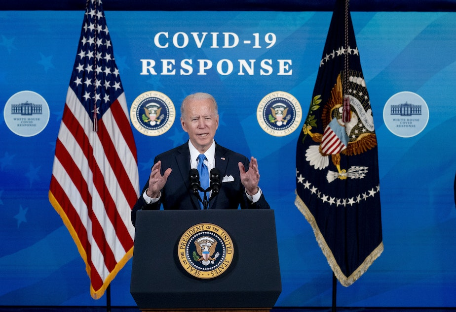 caption: President Biden is calling for White House employees to return to the office next month.