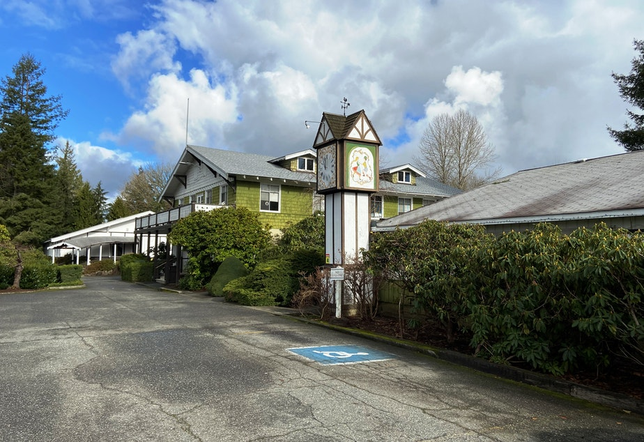 caption: Delta Rehabilitation Center is a nursing home for brain-injured individuals located in a former tuberculosis hospital in Snohomish. The family-run facility will close will later this year displacing 103 residents.