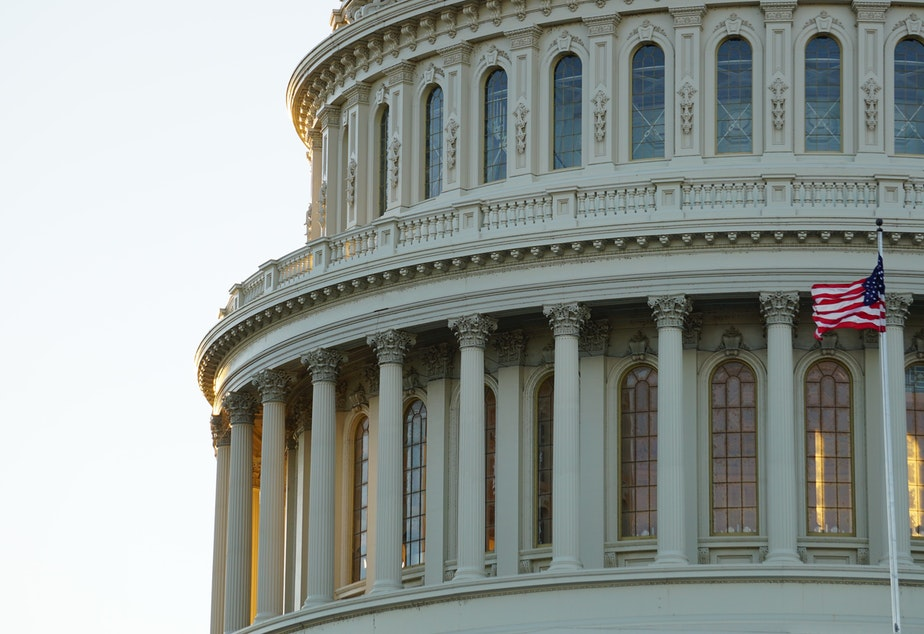 caption: United States Capitol Building.