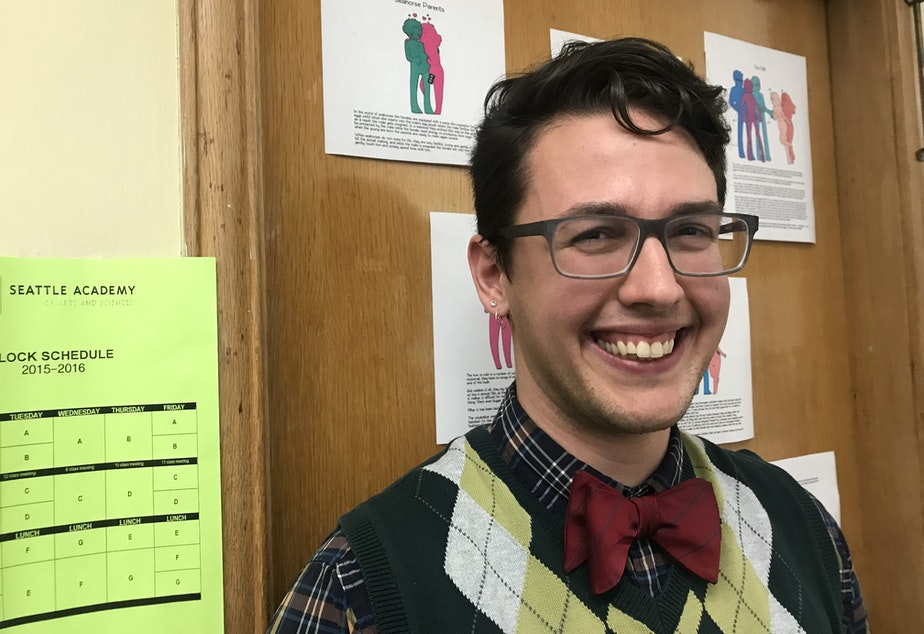 Lewis Maday-Travis says coming out as trans has made him a better science teacher.