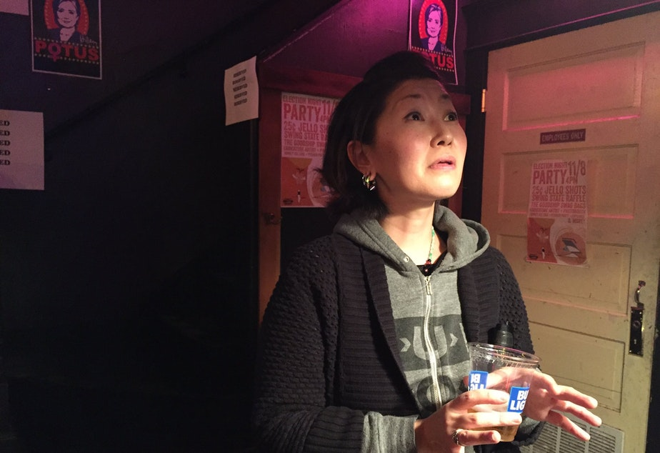 Momo Nikaido, 33, of Bellevue says she always thought herself a Democrat, but this is first election she has voted.