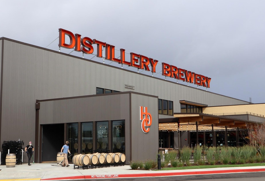 caption: The Talking Cedar brewpub and distillery opened to the public this summer in Grand Mound.