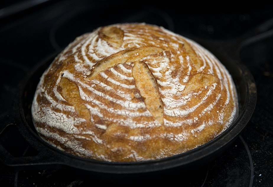 Christy Scheuer's homemade sourdough bread is shown on Friday, December 20, 2019, at her home in Seattle.