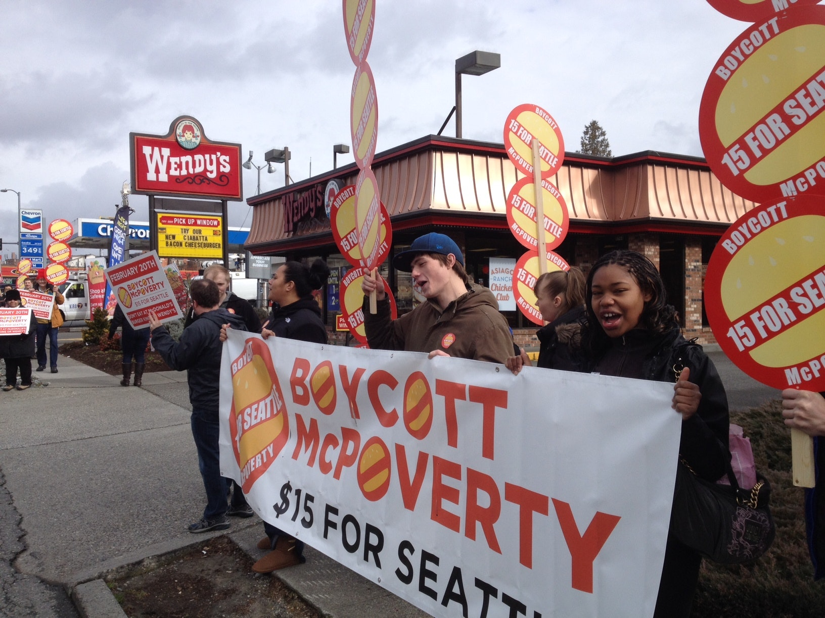 'McPoverty' Protesters Call For Fast Food Boycott In Seattle
