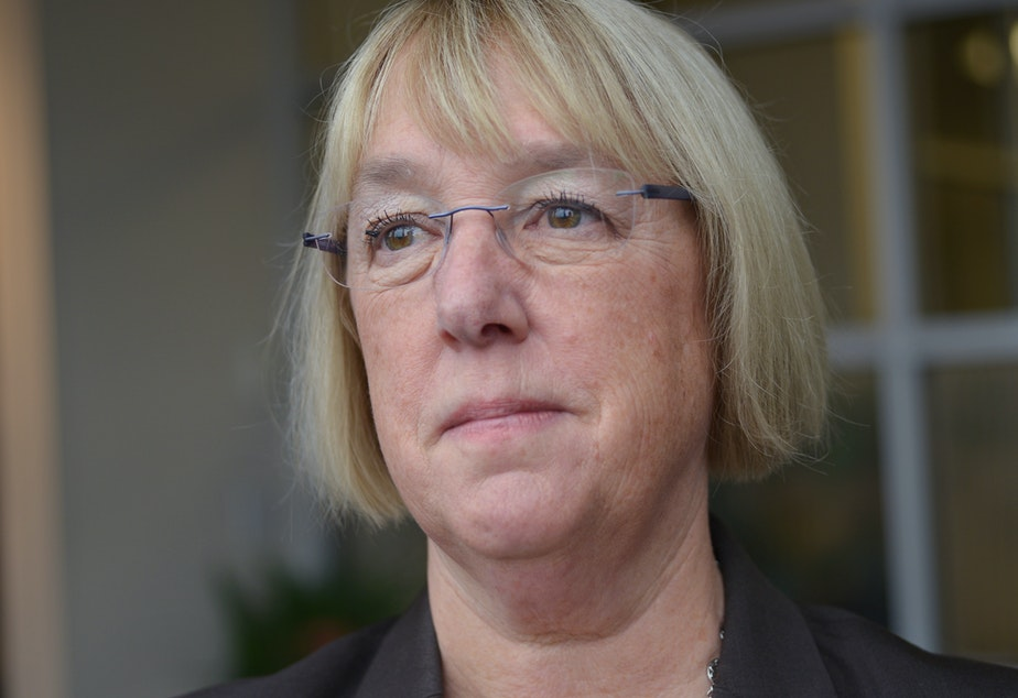 Patty Murray in the KUOW studios on January 5, 2016.