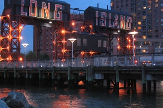 A view of Gantry Plaza State Park, in Long Island City.