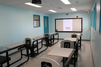 <p>One of the new treatment rooms/classrooms at the behavioral health unit at the Oregon State Penitentiary.</p>