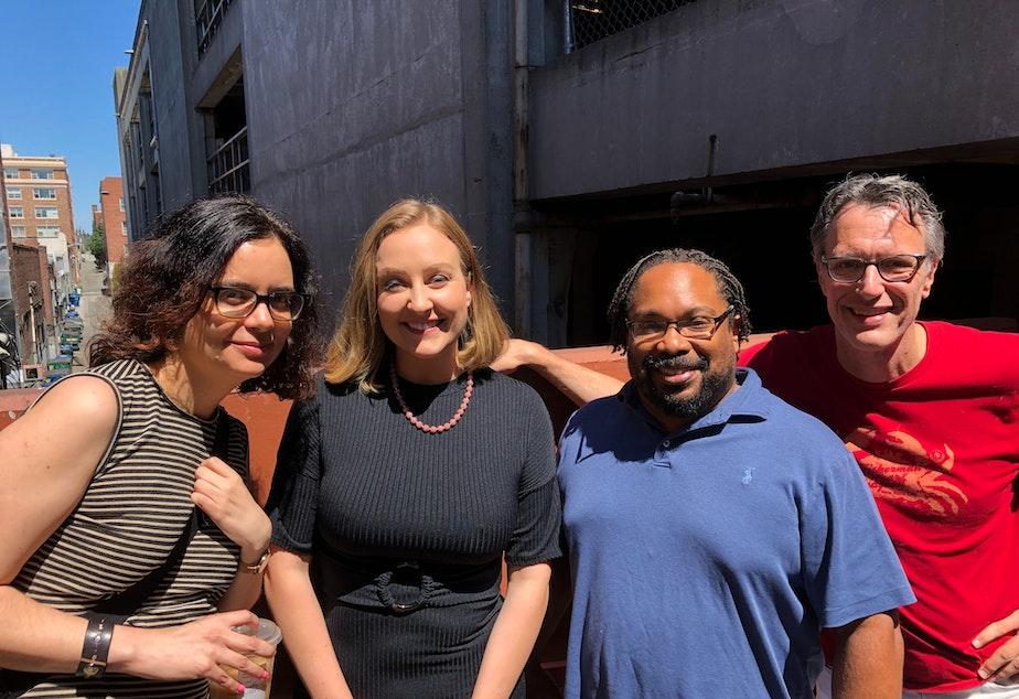 Lilly Fowler, Brandi Kruse, Chris Bennett, and Bill Radke.