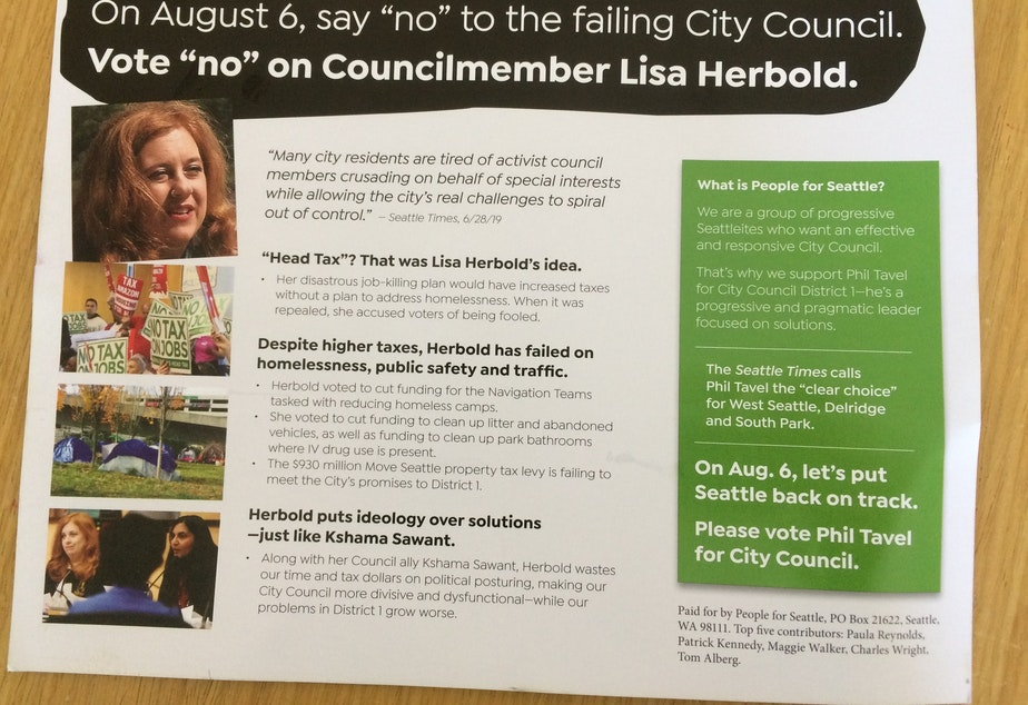 "The PAC ""People for Seattle"" has funded mailers attacking Herbold, Sawant and Sawant challenger Zachary DeWolf."