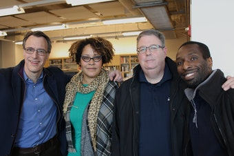 Today's panel: host Bill Radke, Ijeoma Oluo, Chris Vance and Marcus Green