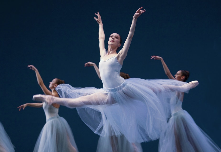 "Pacific Northwest Ballet's Sarah Orza in a 2010 performance of ""Serenade,"" by George Balanchine"