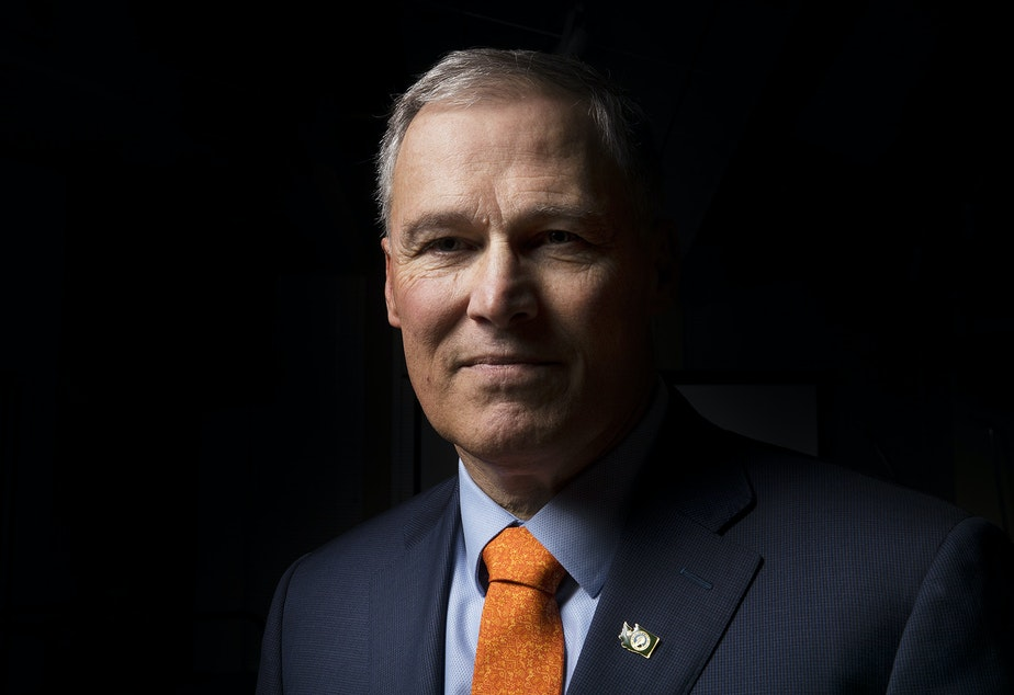 Jay Inslee poses for a portrait on Thursday, January 11, 2018, in Seattle.